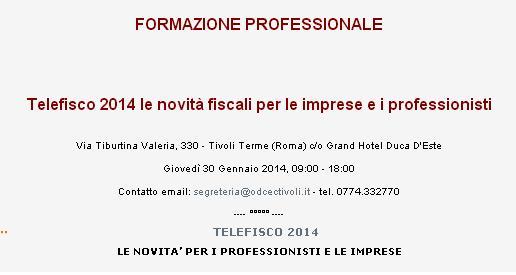 Telefisco 2014 a Tivoli